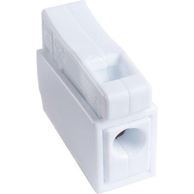 Borne de connexion blanche - 1 fil - Fil souple / fil rigide - Vendu par 10