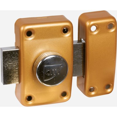 Verrou à bouton ISR6 - Bronze or