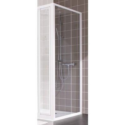 Paroi de douche fixe verre transparent - 80 cm - Atout 2- Leda