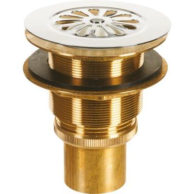 Bonde siphoïde pour évier grès - Laiton - Diamètre 60 mm