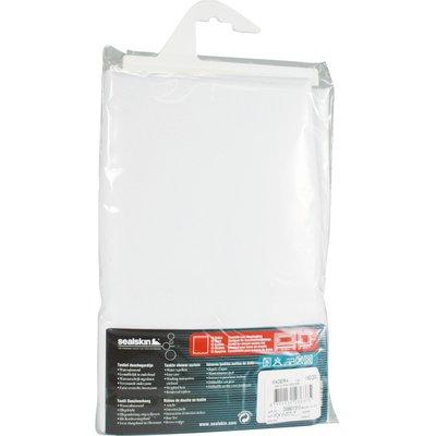 Rideau de douche vinyle - Blanc
