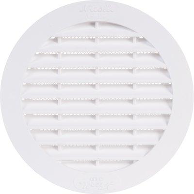 Grille d'aération ronde - Ø 123 mm - Avec moustiquaire - Girpi