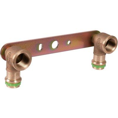"""Applique laiton double avec support droit à sertir - F 1/2"""" - Ø 15 mm - Aal"""