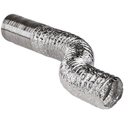 Gaine de ventilation souple nue - Aluminium - Longueur 10 m