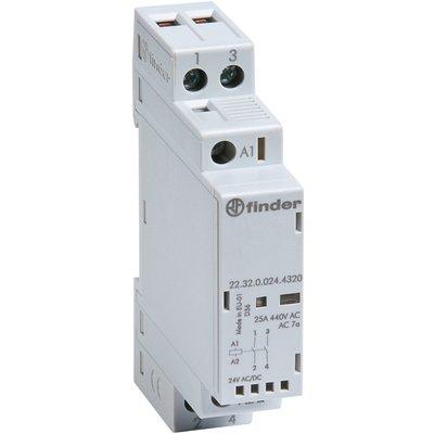 Contacteur modulaire - 1 module - Tension 24 V - Intensité 25 A