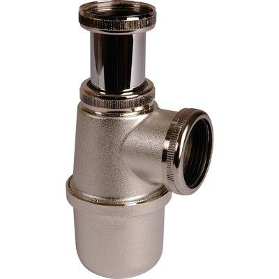"""Siphon de lavabo à culot Nickelé mat - 1""""1/2 - Ø 40 mm - Valentin"""