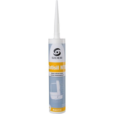 Mastic blanc - 310 ml - Batisil NT