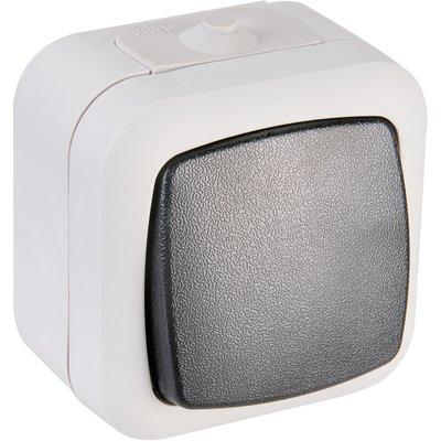 Bouton poussoir gris - Paddy - Dhome