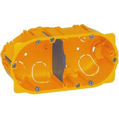 Boîte d'encastrement cloison sèche - 142 x 72,8 x 40 mm - 2 postes - Batibo
