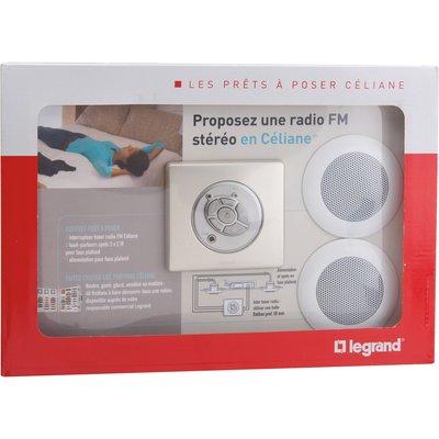Kit radio et haut-parleur - Prêt à poser - Céliane - Legrand
