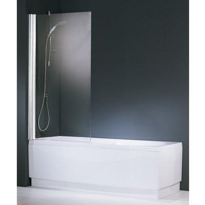Pare-baignoire verre transparent - 1 ventail - 150 x 80 cm - Aurora - Novel