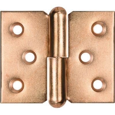 Paumelle de meuble à nœud roulé acier laitonné - Monin - Gauche