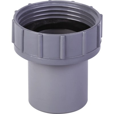 """Douille PVC grise droite - F 1""""1/2 - Mâle Ø 40 mm - Girpi"""