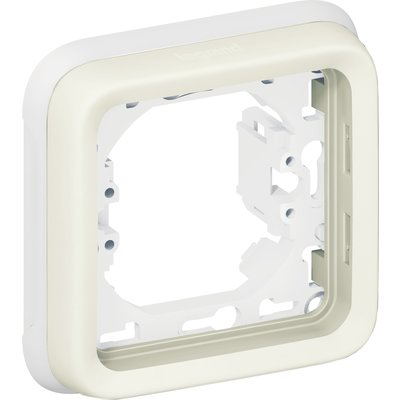 Support plaque blanche composable - 1 poste - Plexo - Legrand