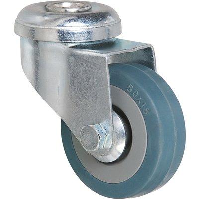 Roulette bleu à œil pivotant - Ø 80 mm - Série S19 - Caujolle