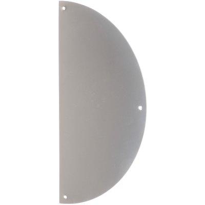 Plaque de propreté inox - Demi-lune - 300 x 150 mm - Adhésive - Duval