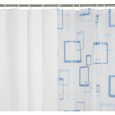 Rideau motif retro 100 % PEVA - 180 x 200