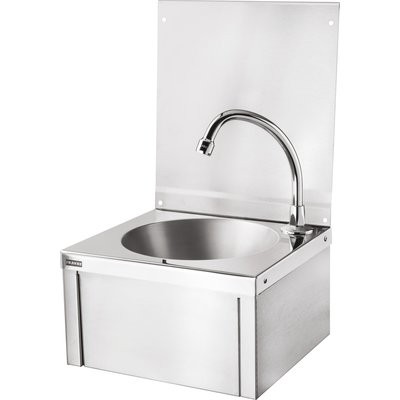 Lave-mains avec dosseret à volet frontal - Franke