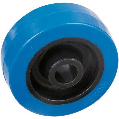 Roue caoutchouc bleu - Ø 125 mm - Caujolle
