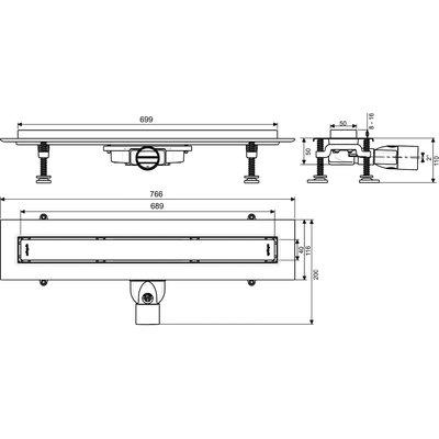 Caniveau de douche - 700 mm - Venisio Slim - Wirquin Pro