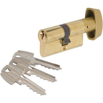 Cylindre à bouton varié laitonné - B30 x 40 mm - TE5 - Tesa