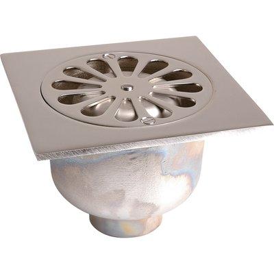 Siphon de sol laiton chromé - Ø 50 mm - grande garde d'eau