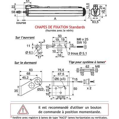 Vérin électrique - 300 mm - T50 - Comtra