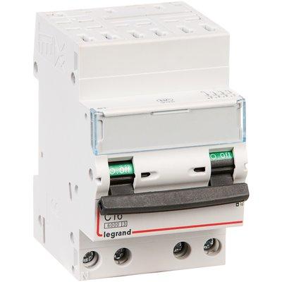 Disjoncteur DX³ 6000 - 10 kA courbe C - 32 A - 3 modules - Connexion auto /