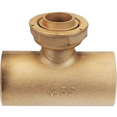 Raccord té droit - Spécial gaz naturel - À souder sur cuivre