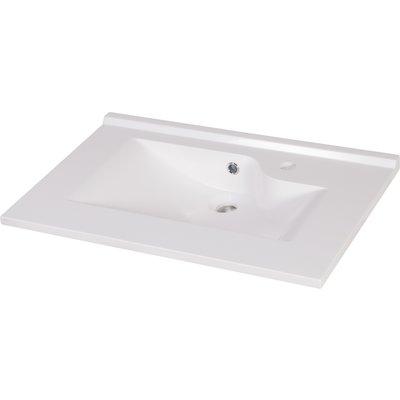 Plan vasque en résine Ecoline Creazur - Longueur 120 cm