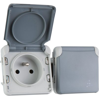 Prise 2 x 2P+T Plexo composable IP 55 - Legrand
