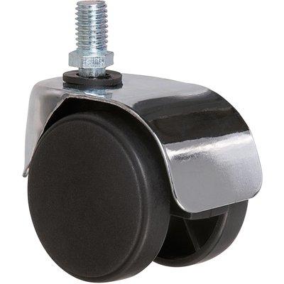 Roulette jumelée ameublement à tige filetée série S49 ZT - Caujolle