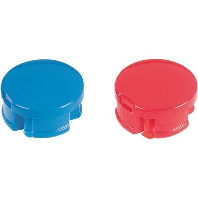Pastilles de croisillon rouge / bleue - Jeu de 12