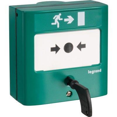 Déclencheur manuel standard pour issues de secours - Legrand - A membrane d