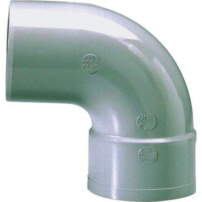 Raccord PVC gris coudé 87°30 - Ø 125 mm - Simple emboîture - Girpi