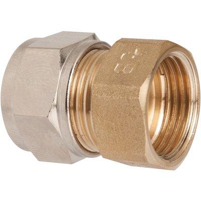 "Raccord laiton droit à serrage - F 1/2"" - Ø 12 mm - Rapido"