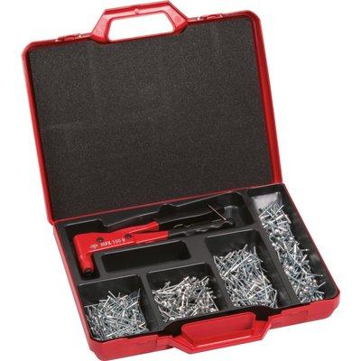 Pince à rivet - Coffret de 501 pièces - Rifix