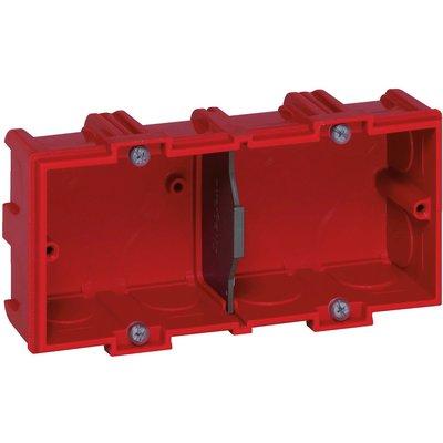 Boîte d'encastrement Batibox - Maçonnerie - 2 postes - Profondeur 40 mm