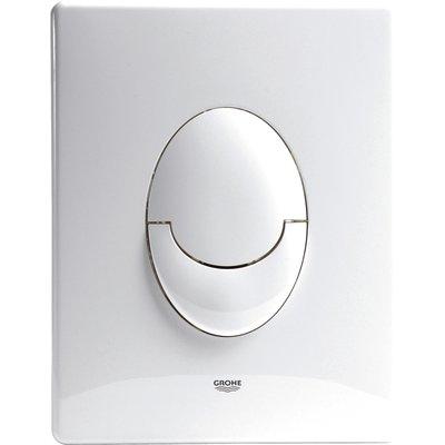 Plaque de commande WC blanche - Skate Air - Grohe