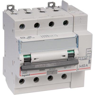 Disjoncteur différentiel monobloc DX³ 6000 - 10 kA courbe C, protection têt