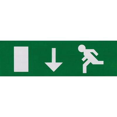 Etiquette de signalisation adhésive pour bloc lumineux