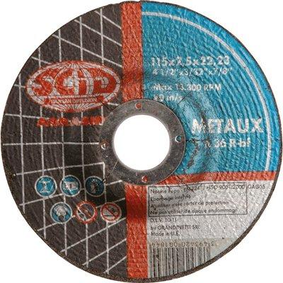 Disque à tronçonner moyeu déporté métaux standard - Diamètre 125 mm