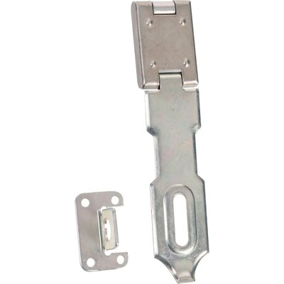Porte cadenas zingué - 120 x 18 mm - À recouvrement - Vachette