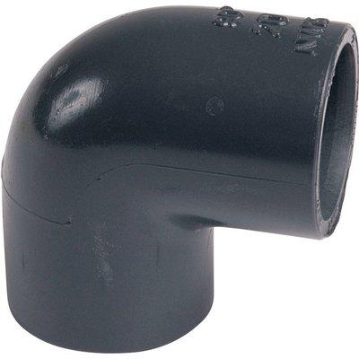 Raccord PVC pression noir coudé 90° - Ø 40 mm - Girpi
