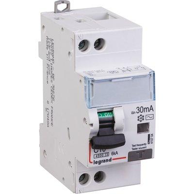 Disjoncteur différentiel DX³ 4500 - 6 kA courbe C - Type AC - 16 A - 2 modu