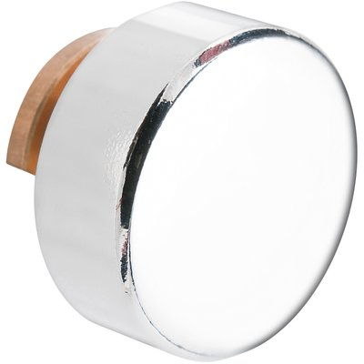 Support de glace rond chromé - Ø 20 mm - Dubois SAS