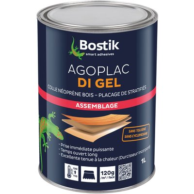 Colle de contact néoprène - 1 L - Saderprène di gel - Bostik