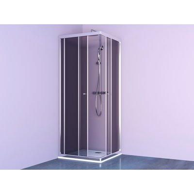 Porte de douche coulissante Nérina - Accès d'angle - Verre transparent