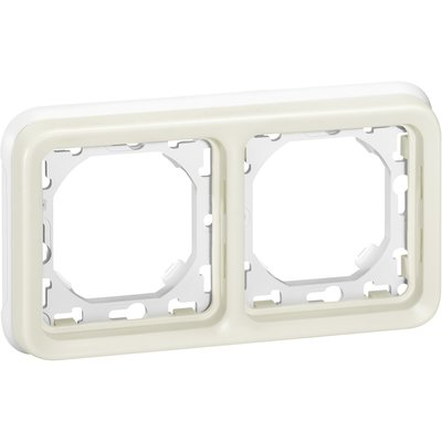 Support plaque blanche composable - 2 postes - Plexo - Legrand