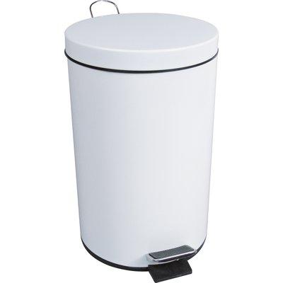 Poubelle à pédale - 5 L - blanche - JVD